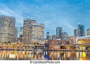 Darling Harbour, Sydney at night