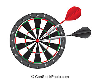 Dart and dart board - dart and dart board isolated over...