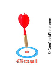 dart arrow hit the goal - isolated dart arrow hit successful...