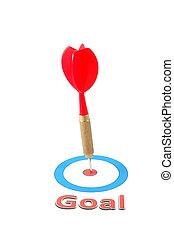 dart arrow hit the goal - isolated dart arrow hit successful...