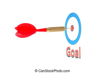 dart arrow hit the goal