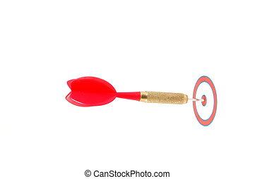 Dart arrow hit the target
