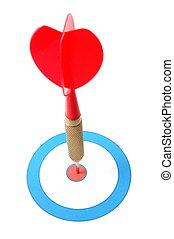 Dart arrow hit the target - successful dart arrow hit the...