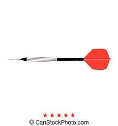 Dart arrow icon . Flat style