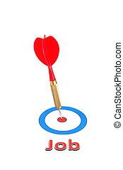 dart arrow job concept