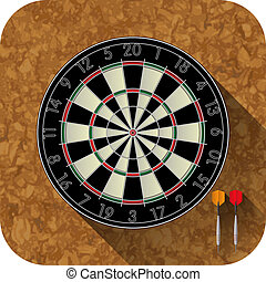 Dart board and two darts for the app icon