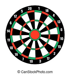 Dart board. Dart target isolated on white. Vector...