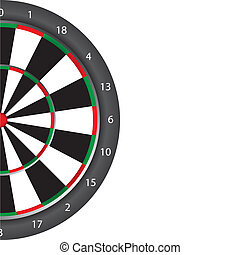 Dart board with space for copy over white background. vector