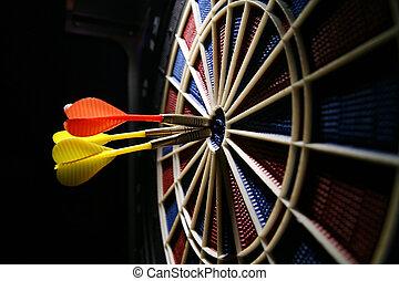 dart board in the bar
