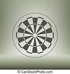 dart board symbol icon