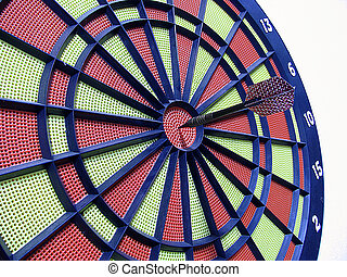 dart board with darts on white background