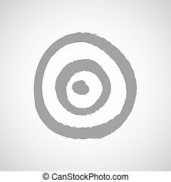 Dart game target on white background vector
