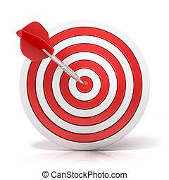 Dart hitting a target, 3d model