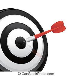 dart hitting a target - EPS 10
