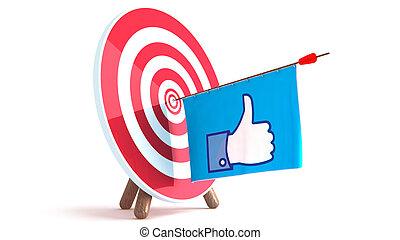 Dart Hitting A Target like, Isolated On White Background