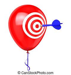 Dart hitting Balloon
