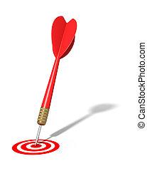 Dart Hitting Target