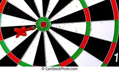 Dart hitting the board