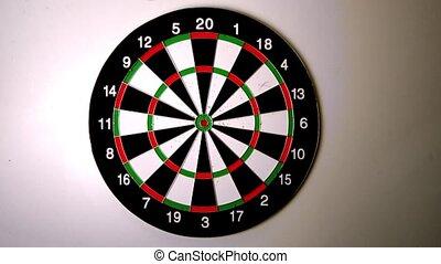 Dart hitting the dart board
