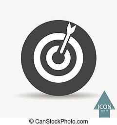Dart icon - Vector dart icon. Vector, illustration, eps10.