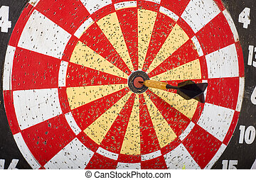 Dart in Bullseye on Dartboard