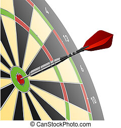 Dart in red target - Vector illustration of a dart in red...