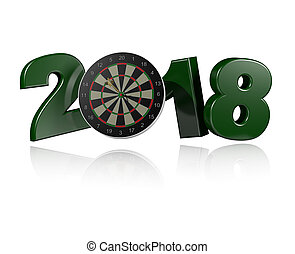 Dart in Target 2018 Design with a white Background