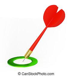 Dart On Green Target