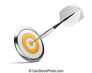 dart on orange target