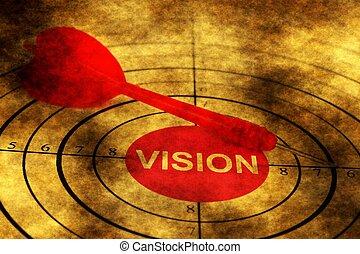 Dart on vision grunge concept