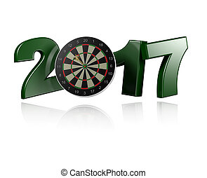 Dart Target 2017 design with a white Background