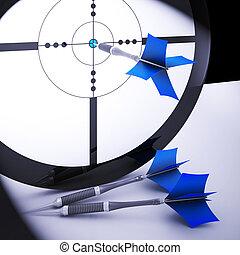 Dart Target Meaning Perfect Skill Winning Performance
