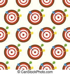 Dartboard and arrows seamless pattern