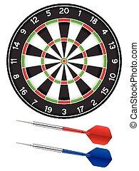 dartboard and darts