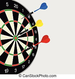 dartboard color illustration