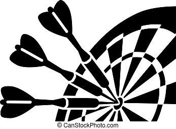dartboard, com, dardos