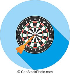 Dartboard - Dart, board, target icon vector image. Can also ...