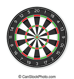 dartboard - Dartboard on a white background.