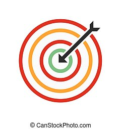 Dartboard - Darts, arrow, archery, sports icon vector image...