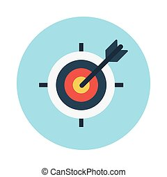 dartboard flat icon