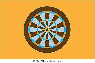 Dartboard for darts game vector illustration eps10