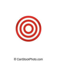Dartboard icon - Dartboard on white background. Target...