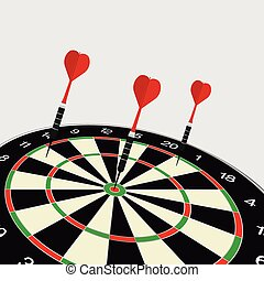 dartboard icon illustration