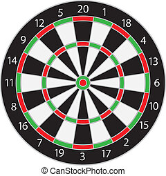 Dartboard Illustration Isolated on White Background