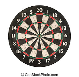 Dartboard isolated, clipping path. - Dartboard isolated on...