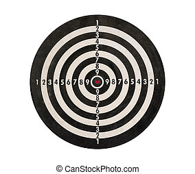 Dartboard isolated, clipping path.