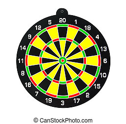Dartboard isolated on white background, clipping part
