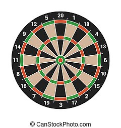 Dartboard Isolated on White Background. Vector