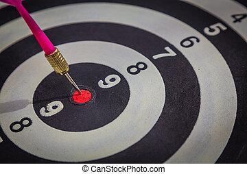 dartboard, ligado, madeira, parede, (darts, golpe, target)