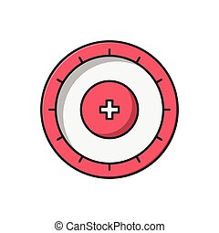 dartboard line flat icon